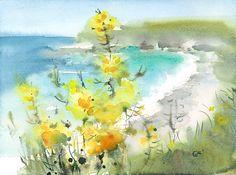 Mendocino Coast  Original Watercolor Painting by CMwatercolors