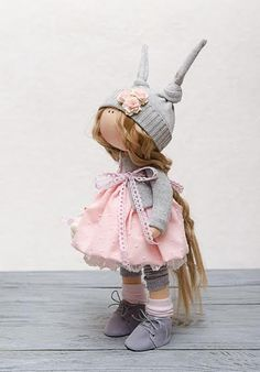Susie Doll-Handmade Doll-Textile by BroderieLittleCorner on Etsy