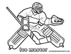 No one told you about Olympic Winter-Coloring-Hockey-Coloring? Winter Games sports coloring pages of hockey, skiing, snowboarding, ice skating, family fun. Sports Coloring Pages, Coloring Pages For Boys, Coloring Pages To Print, Free Coloring Pages, Hockey Tournaments, Hockey Goalie, Hockey Players, Ice Hockey, Hockey Birthday