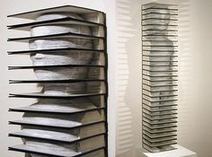 I dont like to read books, so I may as well make a sculpture like this!