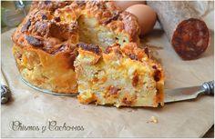 Chismes y Cacharros: Chorizo Strata Cake
