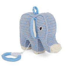 Baby Blue Musical Elephant