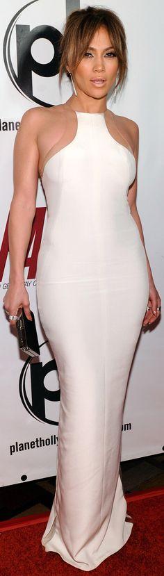 Jennifer Lopez. Love the dress. Hate the stupid face she always makes
