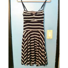 Strip Open Back Dress wore it once or twice Aeropostale Dresses Backless