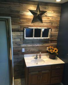 Rustic bathroom DIY                                                       …