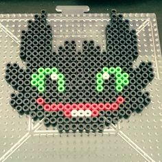 Toothless HTTYD perler beads by eyelessthan3me