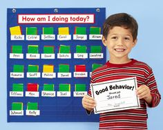 Lakeshore's Behavior Management Pocket Chart makes it easy to monitor classroom behavior—for up to 30 students!
