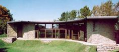 Jacobs House, Middleton by Frank Lloyd Wright, the Solar Hemicycle, at Middleton, Wisconsin, 1944