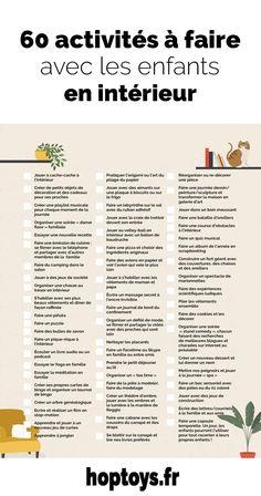 Pas facile d'occuper les enfants en ces temps de confinement. Voici 60 idées d'activités pour stimuler la créativité, se défouler et souder la famille tout en restant à la maison !