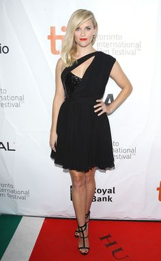 Reese Witherspoon from The Best of the Red Carpet Also at TIFF, Reese sports a flirty Saint Laurent dress at the Wild premiere.