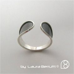 Sterling Silver Open Ring on the Top by LauraBerrutti on Etsy