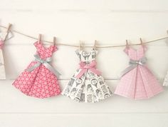 Welcome to 'Paper, Scissors, Frock, Paper Dresses' ~ see my listings for other 'paper dress' designs' '1950s Vintage paper dress bunting' ~ 'Vintage Romance ~ from Paper, Scissors, Frock ~ For big or little girls! A truly gorgeous bunting of frocks reminiscent of 1950's vintage frocks ~ Carefully...