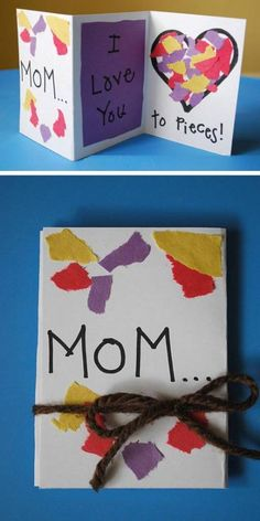 Mothers Day Crafts For Kids Discover 16 Easy Mothers Day Cards for Kids to Make From Mothers Day Pieces Card to Watercolor Mothers Day Card heres the ultimate list of easy to make cards for Mothers Day. So grab your children and craft Daycare Crafts, Sunday School Crafts, Classroom Crafts, Toddler Crafts, Preschool Crafts, Easy Mother's Day Crafts, Mothers Day Crafts For Kids, Fathers Day Crafts, Children Crafts