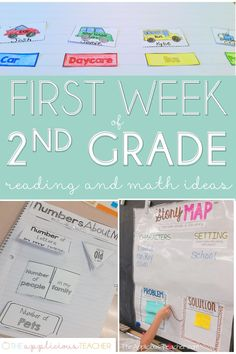 first week of 2nd grade lesson plan ideas and activities- theappliciousteacher.con #firstweekofschool #backtoschool #2ndgrade