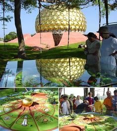 """Photo courtesy of Auroville C.R """"Auroville wants to be a universal town where men and women of all countries are able to live in peace a. Tao, Auroville India, Union Territory, Bay Of Bengal, Pondicherry, French Colonial, One Day I Will, Rural Area, Sustainable Development"""
