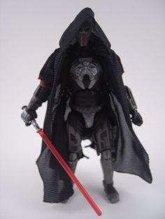 Custom Star Wars SWTOR Sith Warrior 3.75in figure mandalorian jedi darth EU
