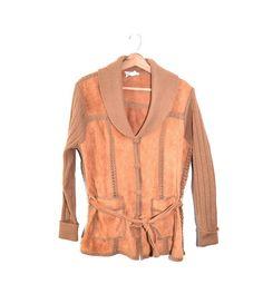 Boho Sweater Boho Suede Jacket Boho Leather by founditinatlanta