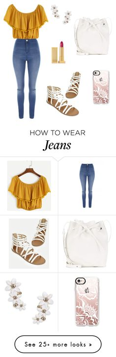 """Untitled #1073"" by mariafilomena471 on Polyvore featuring Jane Norman, JustFab, Casetify, Lipstick Queen, Kate Spade and Mansur Gavriel"