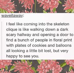 Why does this describe the skeleton clique perfectly?