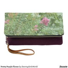 Pretty Purple Flower Clutch
