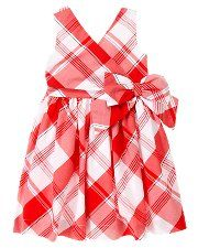 Bow Plaid Dress-Janie and Jack..Another adorable oufit