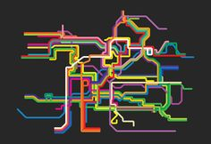 prague metro line map 4'X6' by LiveitupS2 on Etsy, $1.50