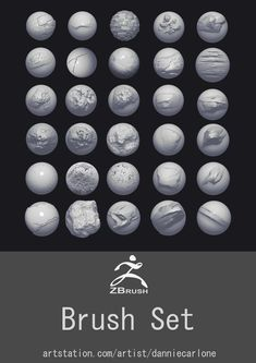 ArtStation - Custom Zbrush Brush Set, Dannie Carlone