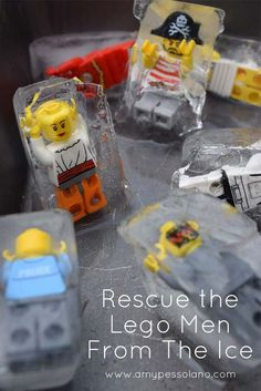 the Lego Men: Ice Excavation Activity Keep the kids busy and cool this summer with this Lego Mini Ice excavation activity.Keep the kids busy and cool this summer with this Lego Mini Ice excavation activity. Lego Activities, Summer Activities, Preschool Activities, Lego Games, Kid Party Activities, Kids Party Games Indoor, Dinosaur Activities, Kid Games, Indoor Games