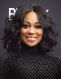 Monica at Black Girls Rock! 2016 | Monica went full Bambi with fluttery falsies, and she kept her wavy bob frizz-free all night. #blackhairstyleswithweave