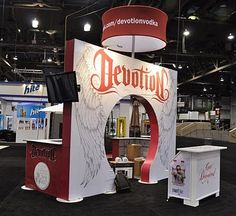 Devotion Vodka's trade show booth at The Nightclub & Bar Convention and Trade Show (NCB)