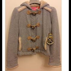 Juicy Couture faux fur trim hooded jacket Juicy Couture faux fur trim hooded jacket Juicy Couture Jackets & Coats