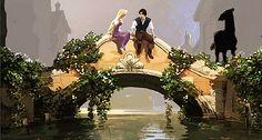 Film: Tangled ===== Scene: Talking On The Bridge ===== Artist: Kevin Nelson