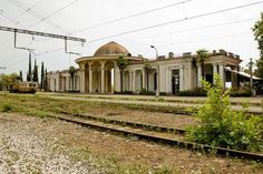 Abandonments in the Ghost Town of Gagra, Georgia (Abkhazia), Russia: Railway Station