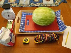 Different ways to measure a watermelon