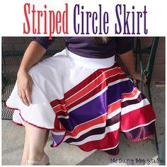 How to Sew a Circle Skirt via @Matty Chuah Crafty Blog Stalker
