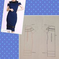 Origami fashion tutorial projects 23 ideas for 2019 Easy Sewing Patterns, Clothing Patterns, Dress Patterns, Sabrina Dress, Origami Fashion, Pattern Drafting, Pattern Sewing, Love Sewing, Diy Dress