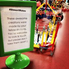 New signage in our library Maker display #stewartmakes #makerspace