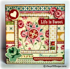 Tea for Two card by Cheryl Caldwell-Nyboer.