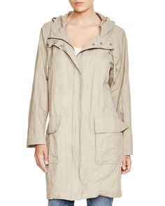 Eileen Fisher Plus Hooded Anorak
