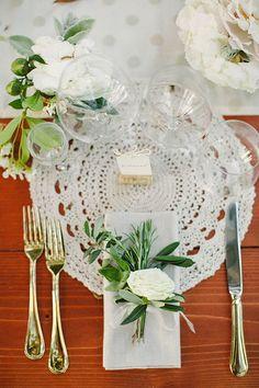 Decoração casamento ao ar livre - Sousplat de crochê