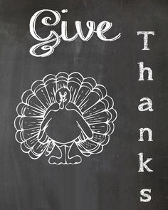 Give Thanks Chalkboard Printable - Heather's Happenings