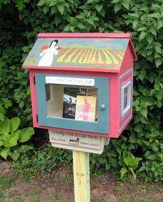 Mini-bibliotecas para disponibilizar livros gratuitamente para quem passar por elas. Cada um constrói a sua como quiser.