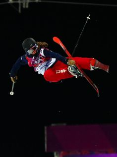 DAY 14:  Maddie Bowman of the USA competes during the Freestyle Skiing Women's Ski Halfpipe http://sports.yahoo.com/olympics