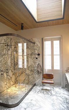 ... glass partition ..... Marble master bath Meacham Nockles McQualter