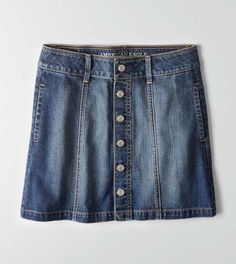 AEO Button Down Denim Skirt