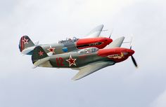 https://flic.kr/p/nrXk1m | Yakovlev Yak 3-M | The Yakovlev Yak-3 was a World War II Soviet fighter aircraft. Robust and easy to maintain, it was much liked by pilots and ground crew alike. It was one of the smallest and lightest major combat fighters fielded by any combatant during the war, and its high power-to-weight ratio gave it excellent performance. It proved a formidable dogfighter. Marcel Albert, the official top-scoring World War II French ace, who flew the Yak in USSR with the…