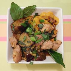 Stir fried ginger basil chicken with tinker bell peppers and coconut rice #blueapron #blueapronmeals #chef #chefsofinstagram #food #foodie #foodpic #foodporn #foodgasm #foodblogger #yummy #cookwith5kids #summer2015 #cookwith5kids
