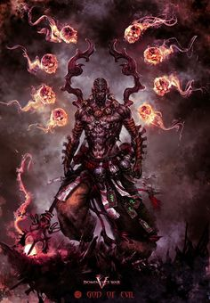 Lan, The Dark One, the Deceiver. Banished to the plane of Shi for creating an uprising against the other gods. Before he was defeated, he was able to corrupt the souls of Man, causing all the gods to be connected to them, relying on their worship to retain their power. He now tries to turn man away, weakening the other gods so he may again rise as a conquerer.