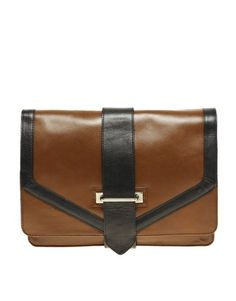 ASOS Leather Business Clutch