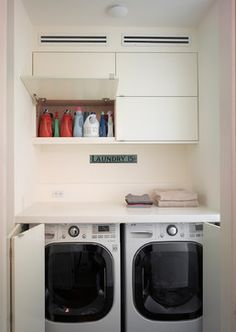Bi Fold Doors Laundry Room Design Ideas, Pictures, Remodel and Decor